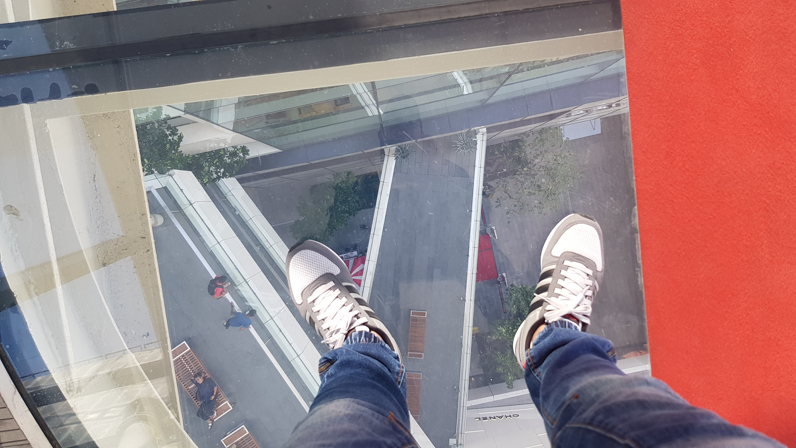 A piece of glass-floor skywalk @ ESCAPE