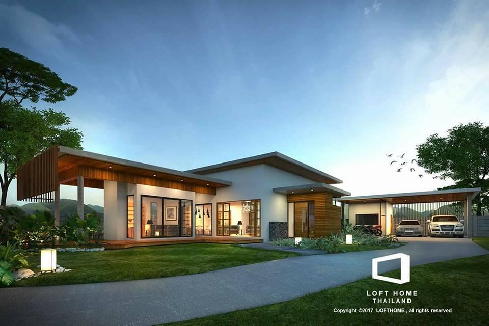 สร้างบ้านสไตล์ลอฟท์ ราคาถูก