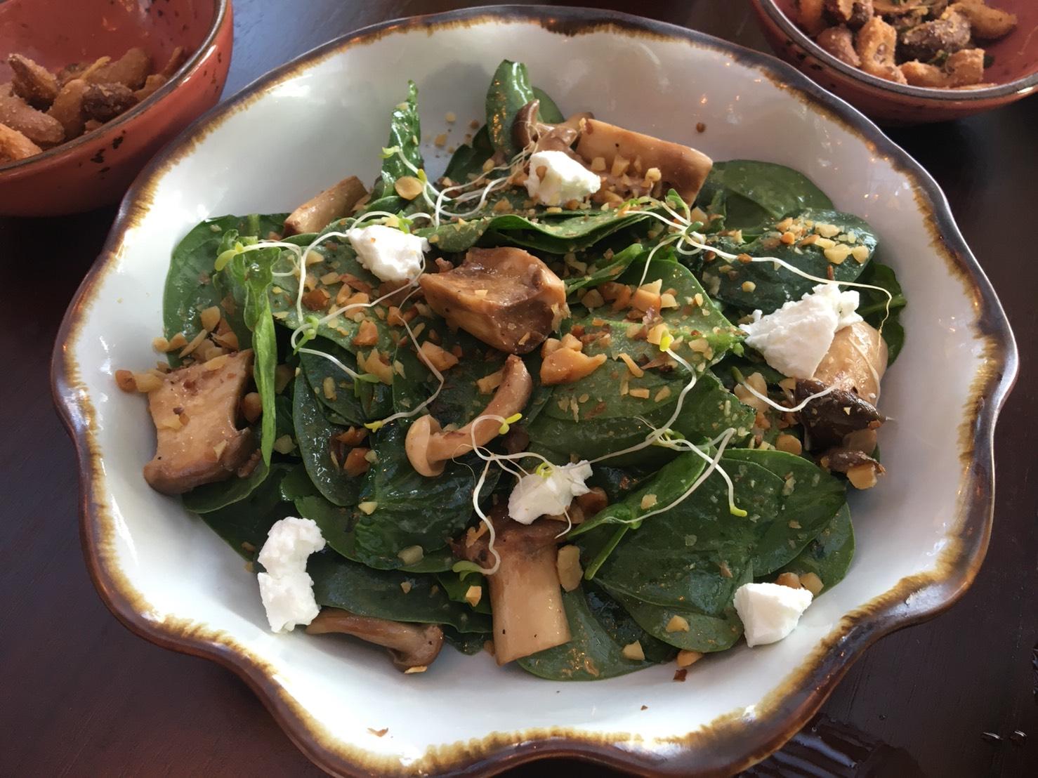 Baby Spinach Salad @ ESCAPE