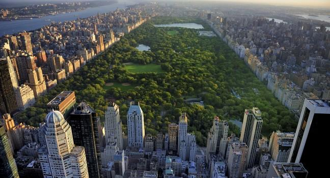 Central Park view from city