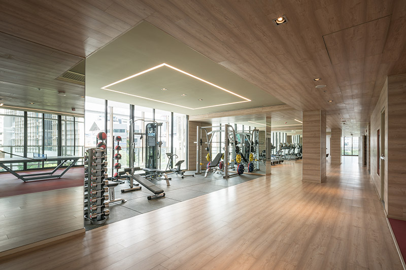 800-sq.m premium Active Floor offering weight and cardio equipment as well as a boxing gym