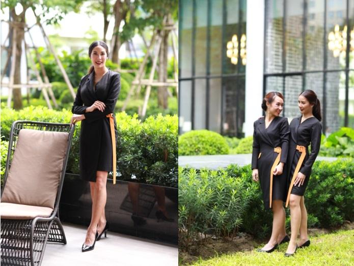 Fashion Set คอลเล็คชั่นชุดพนักงานขาย (เดรสแขนยาว) ดีไซน์หรู สง่างาม ทันสมัย
