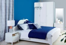 ห้องนอนที่จัดให้โล่งโปร่ง เพือ่อากาศในห้องหมุุนเวียน