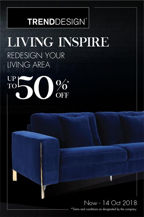 """TREND DESIGN"" จัดโปรฯ ""LIVING INSPIRE"""