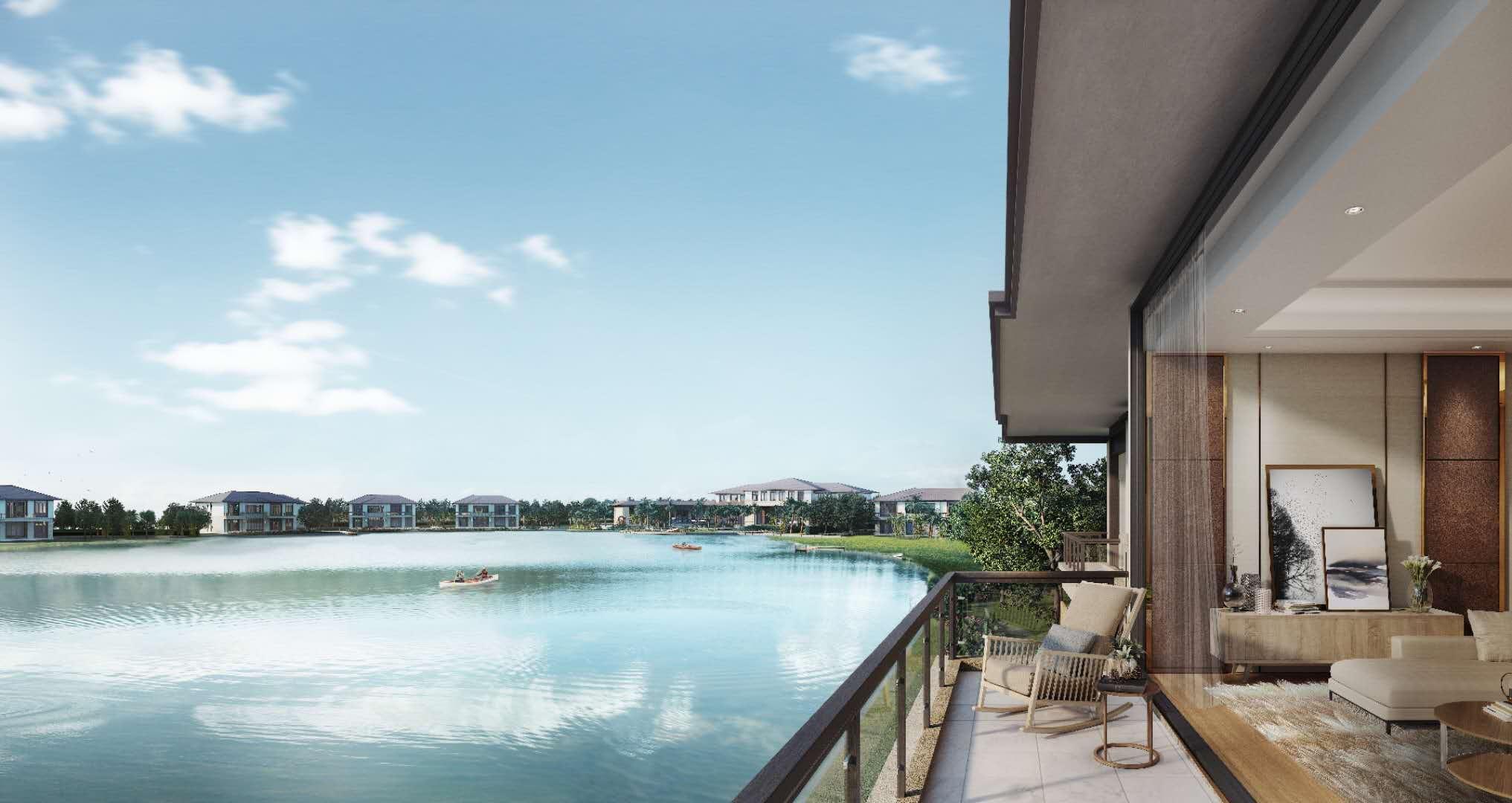 เลคซีรีน บ้านสไตล์ นอร์ท อเมริกัน สุดหรูหราพร้อมทะเลสาบส่วนตัว